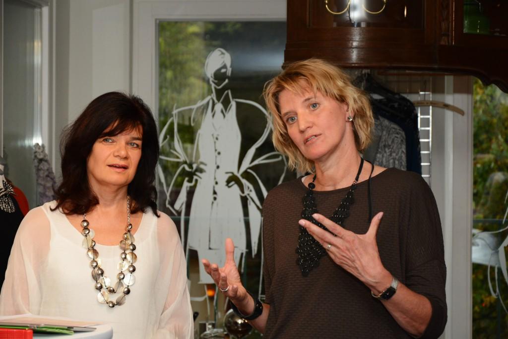 Die Gastgeberinnen Iljana Olitzsch (Midas) und Karin Spengemann